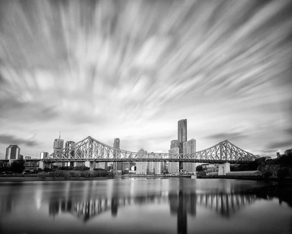 Brisbane Story Bridge long duration photography Welders mask glass filter