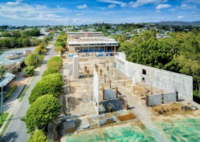 Brisbane construction site aerial photography