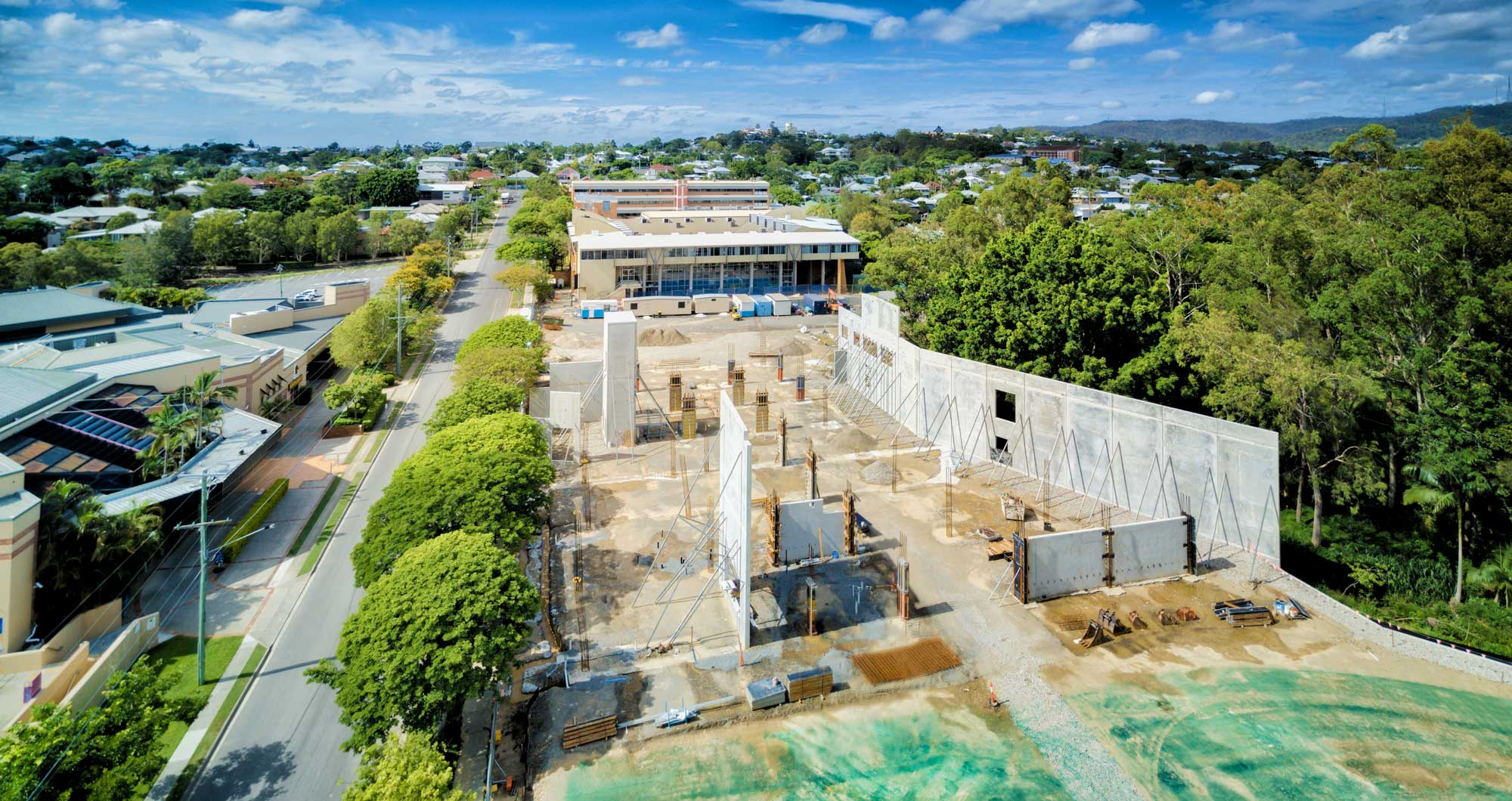 Brisbane construction site aerial photography property for Building site house