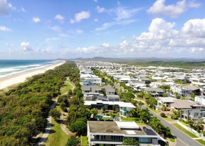 Kingscliff NSW beachfront homes aerial photography
