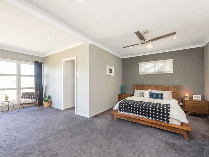Brisbane northside property photography, master bedroom