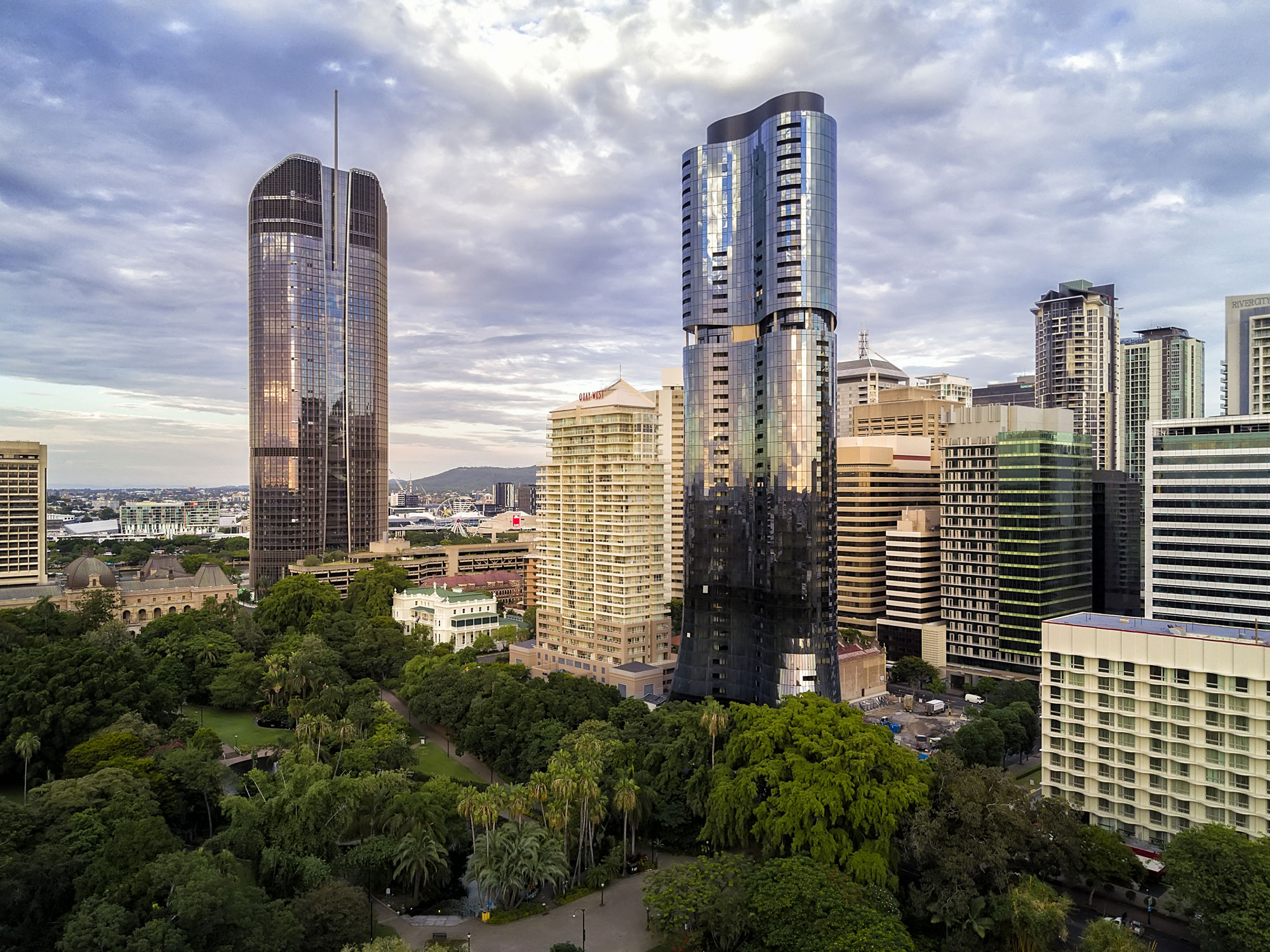 Drone photograph of Abian Apartments by phil savory