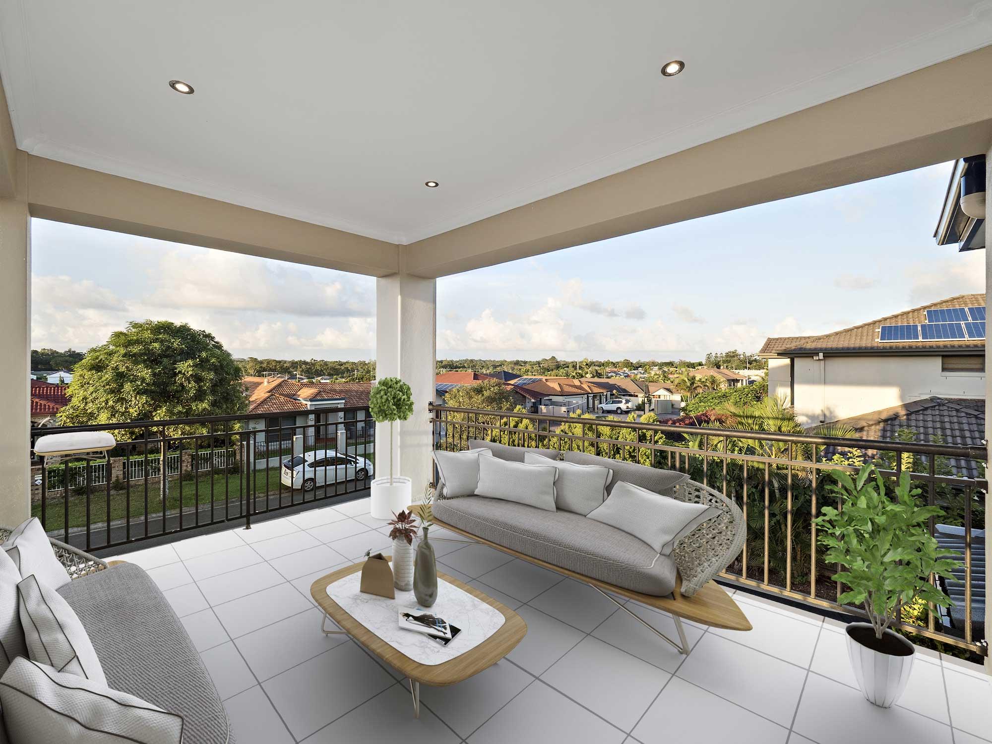 virtual furniture added to modern home for sale, Kuraby Brisbane