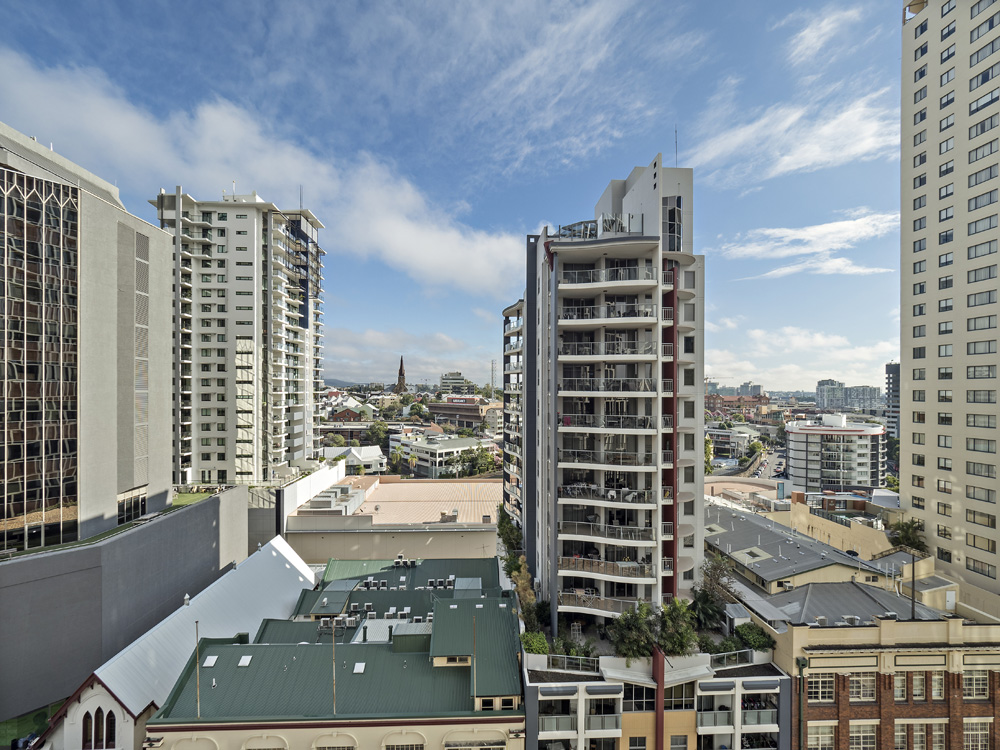 Real estate apartment photography Spire Residences, Apartment 1210 view, July 2018