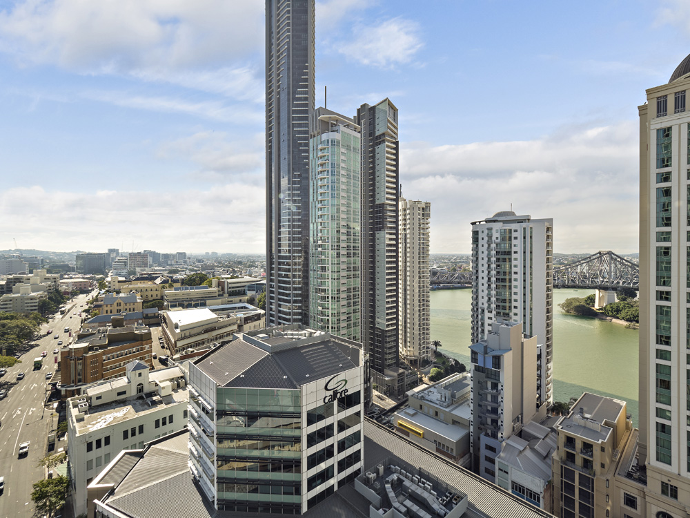 Real estate apartment photography Spire Residences, Apartment 1904 view, August 2018