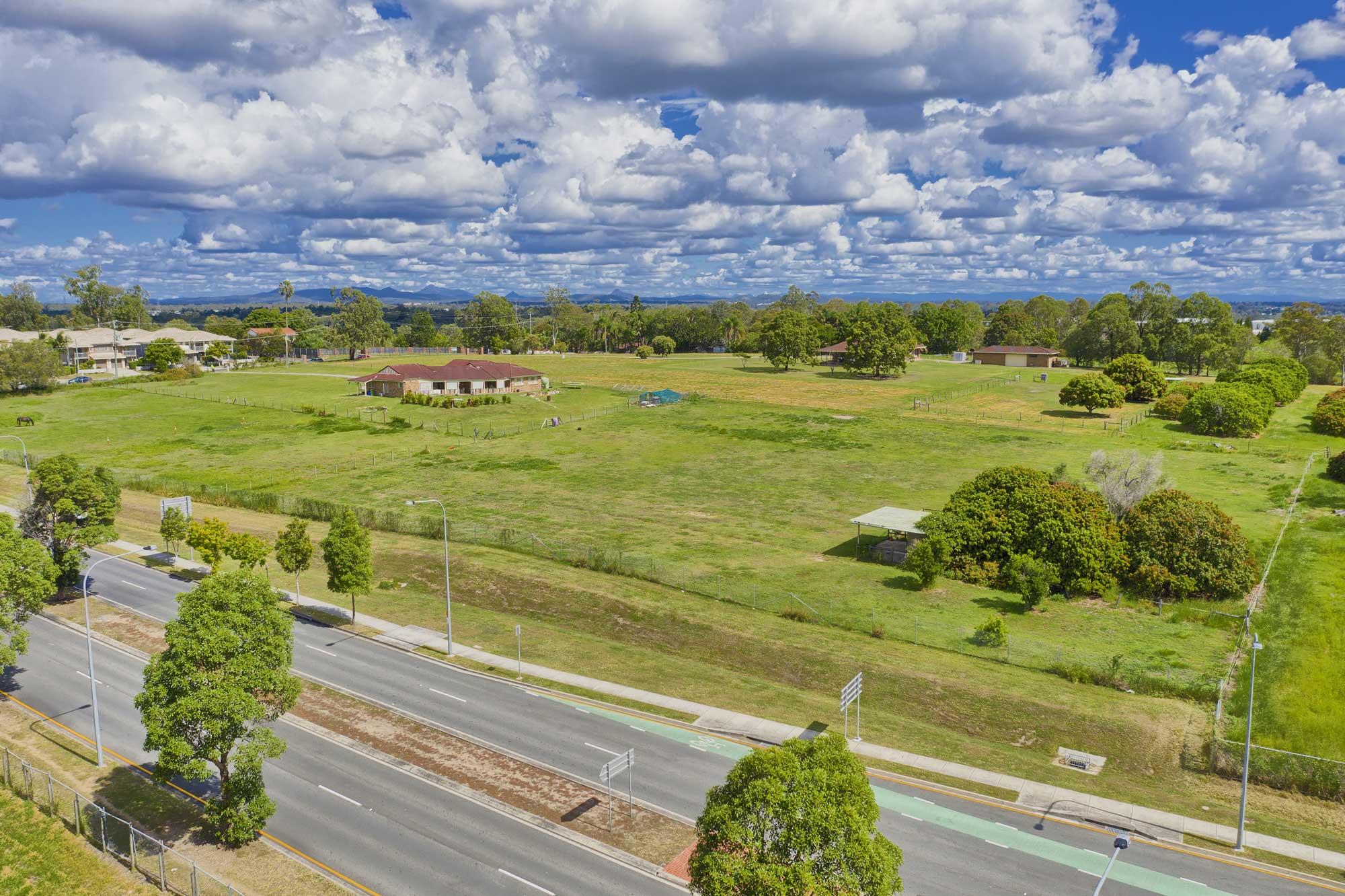 Drone Photography Brisbane - Land development site Richlands, Brisbane