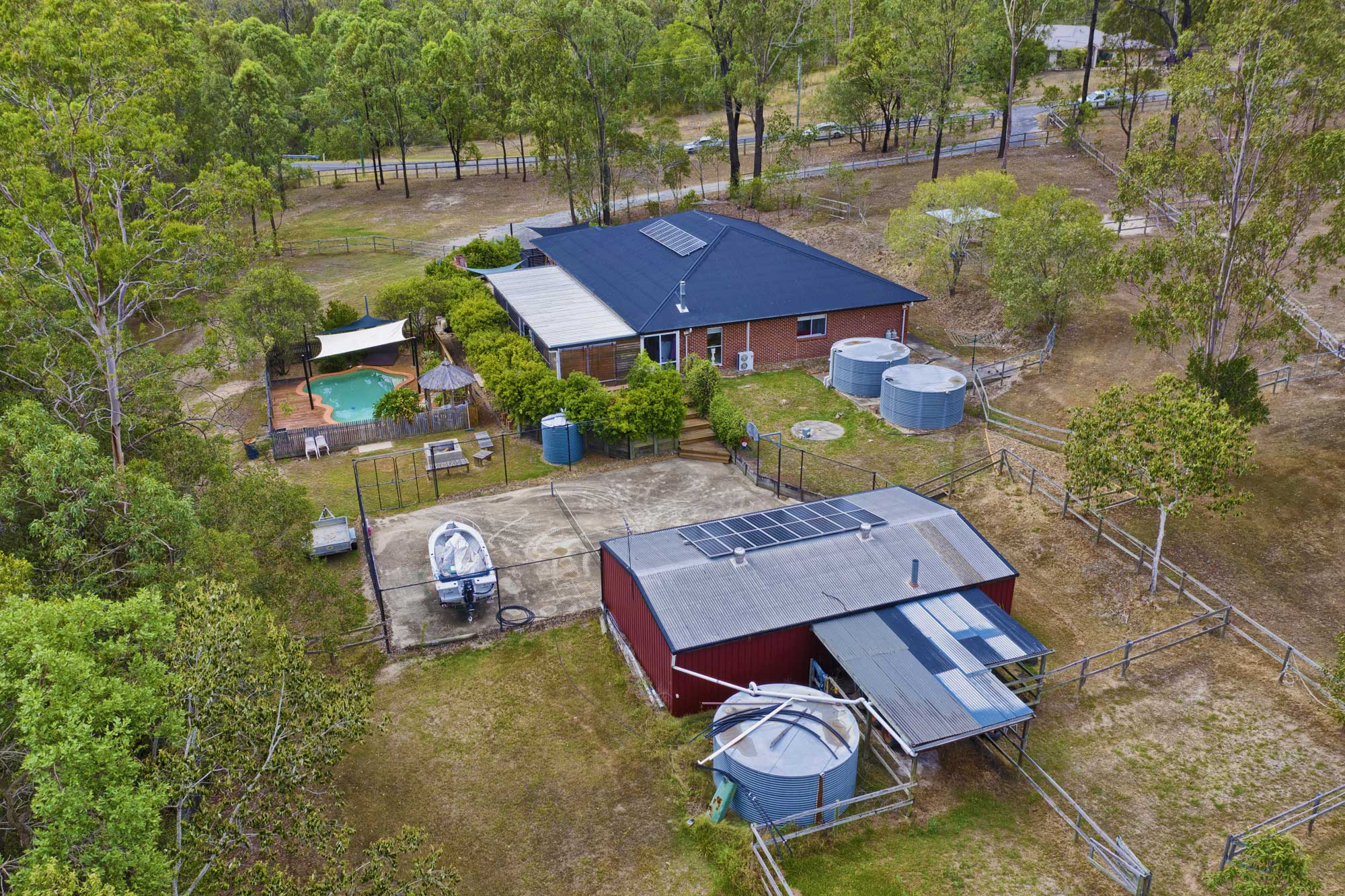 Acreage ground and drone photography at 78 Sandpiper Drive Jimboomba