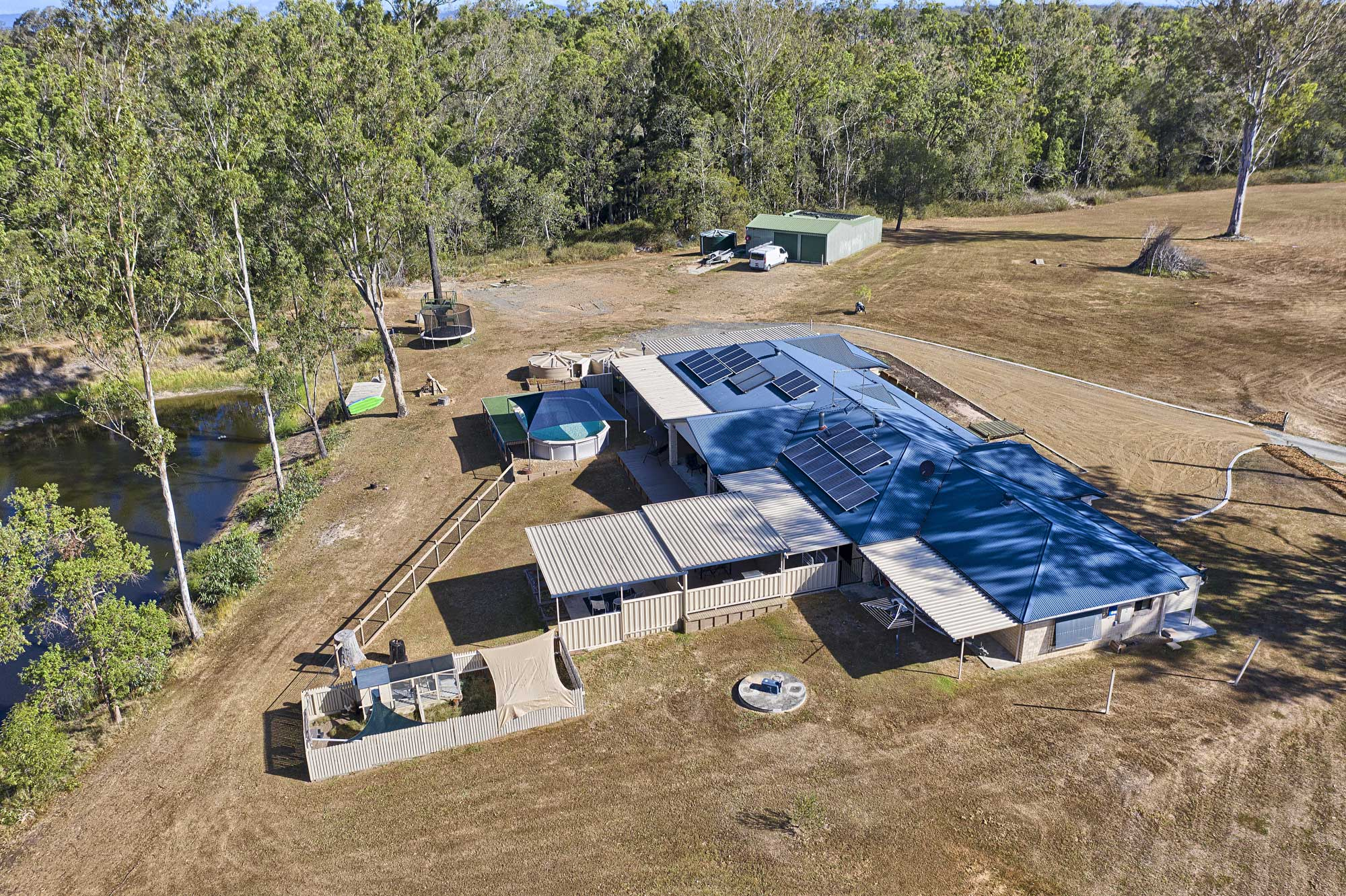 Acreage ground and drone photography at 79 Paula Rd South Maclean