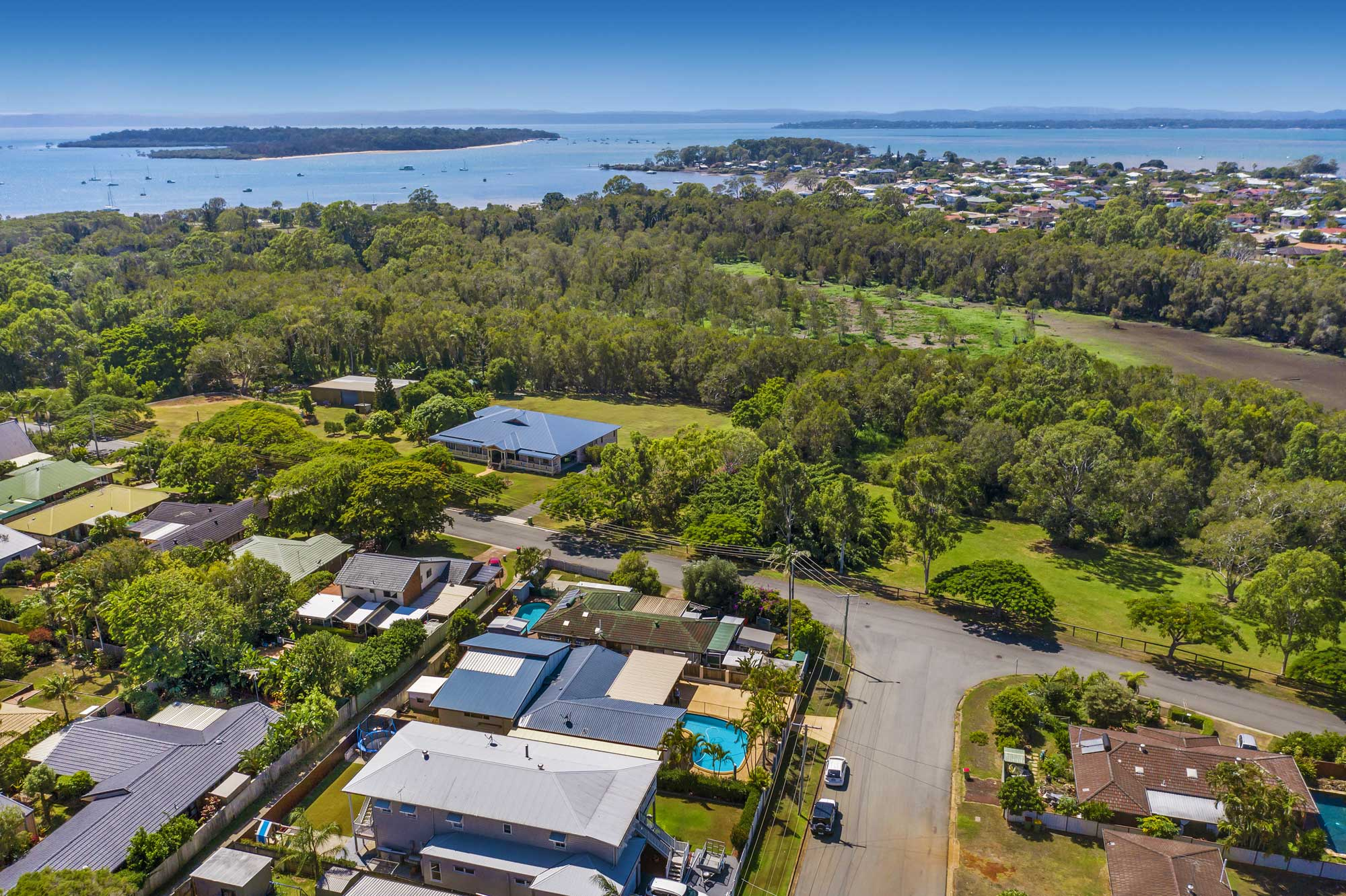 Drone Photography Brisbane - home for sale at Redland Bay
