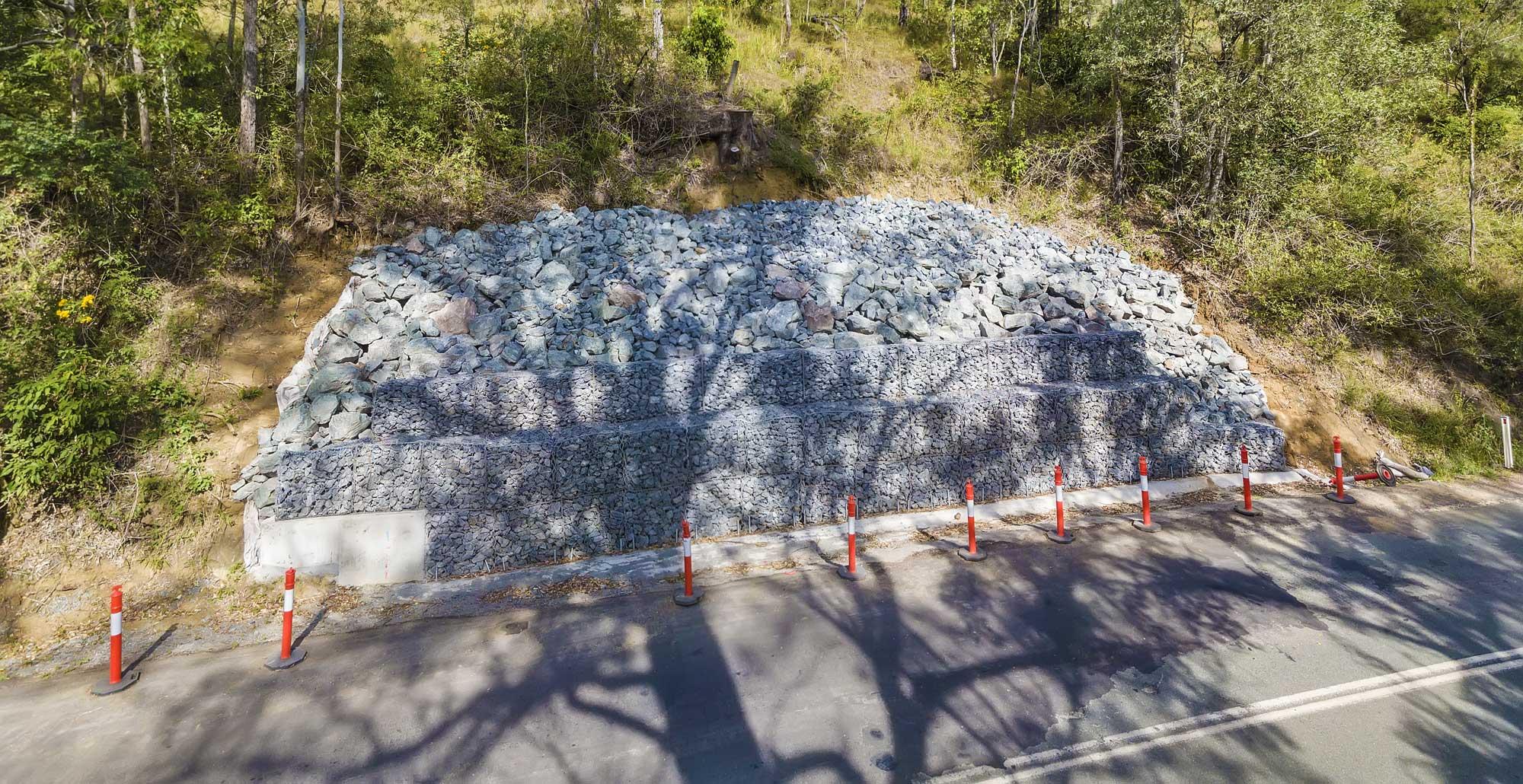 Construction photography Brisbane - Lamington National Park remedial work - Concrib