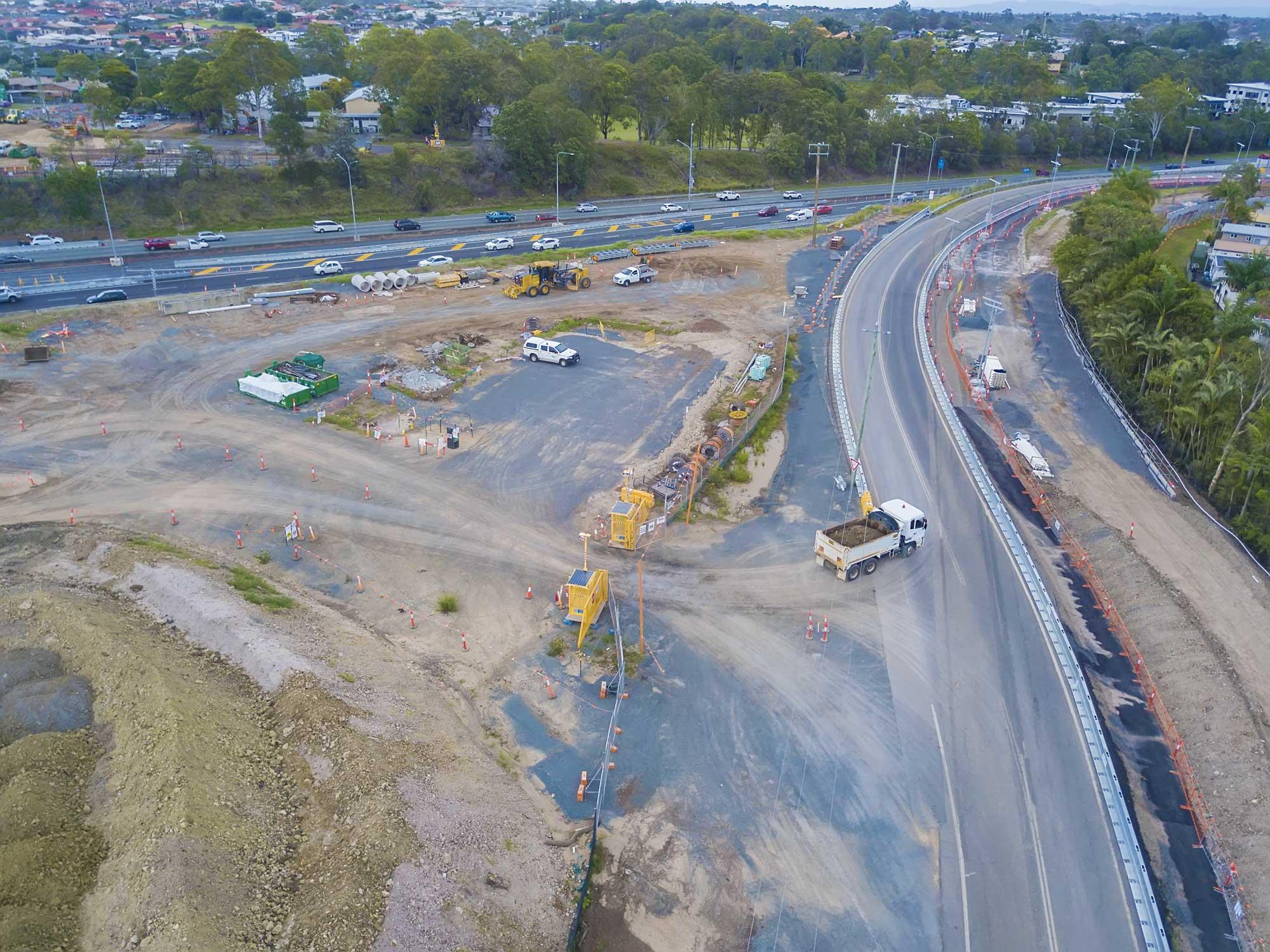 Construction photography Brisbane for HSRoads safety barrier