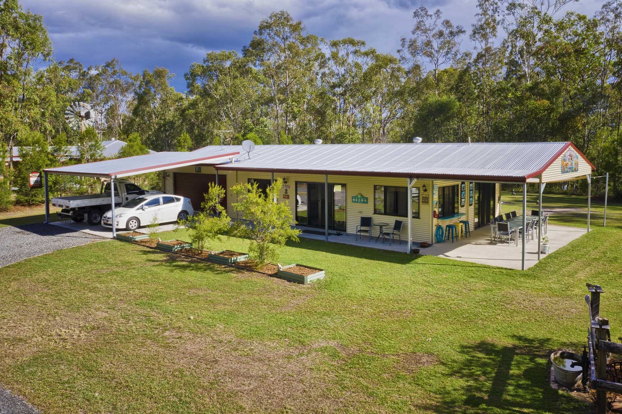 Acreage Photography Brisbane & Surrounds - the drone at only 3 metres above the ground