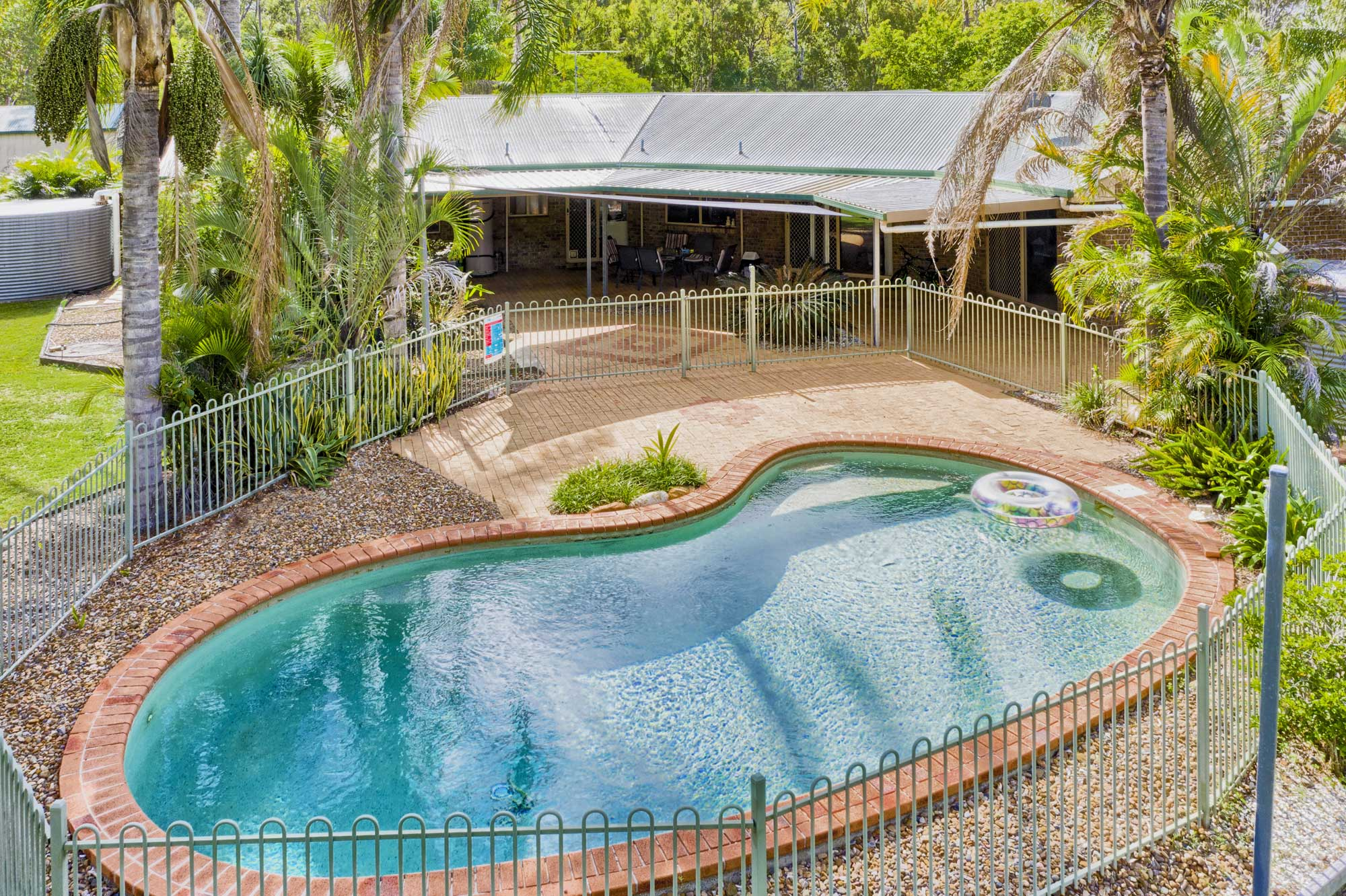Drone photography of the pool at 1033 Teviot Rd Jimboomba