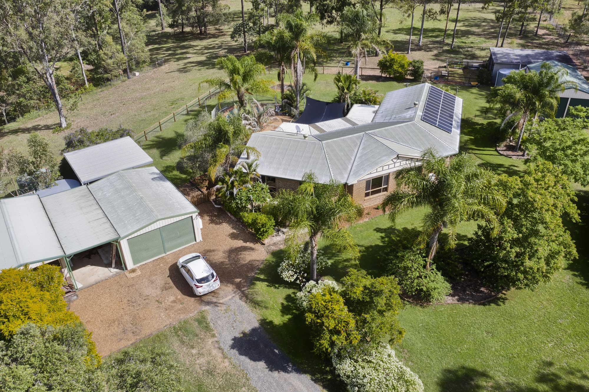 Drone photography at 1033 Teviot Rd Jimboomba for a new real estate listing