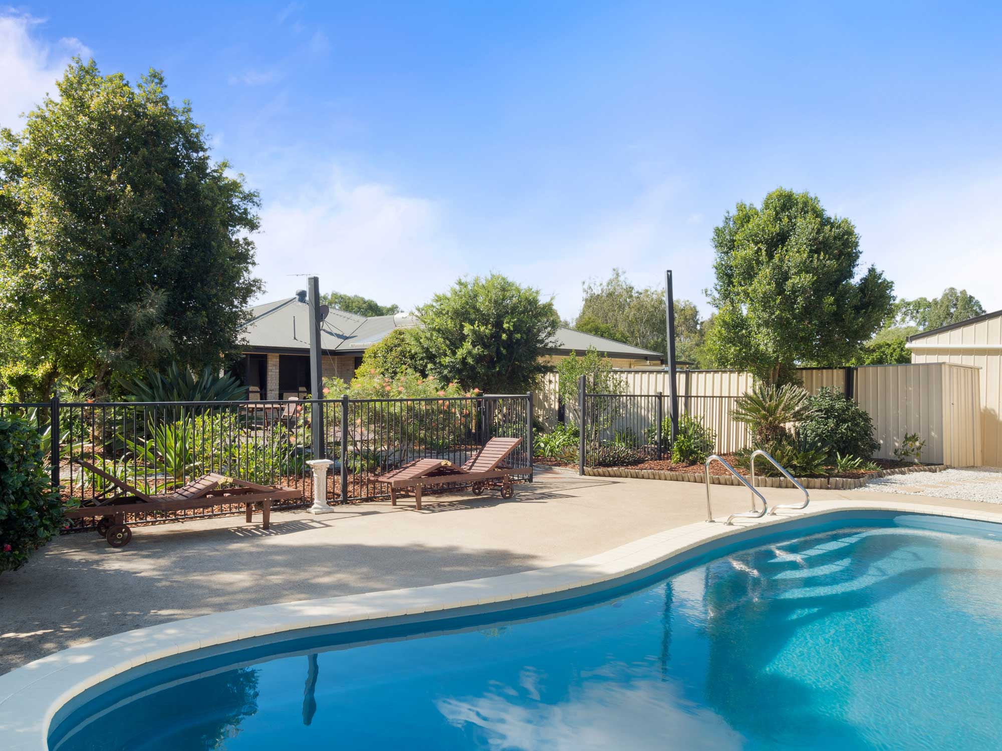 The swimming pool at 33 Shergar Court Jimboomba