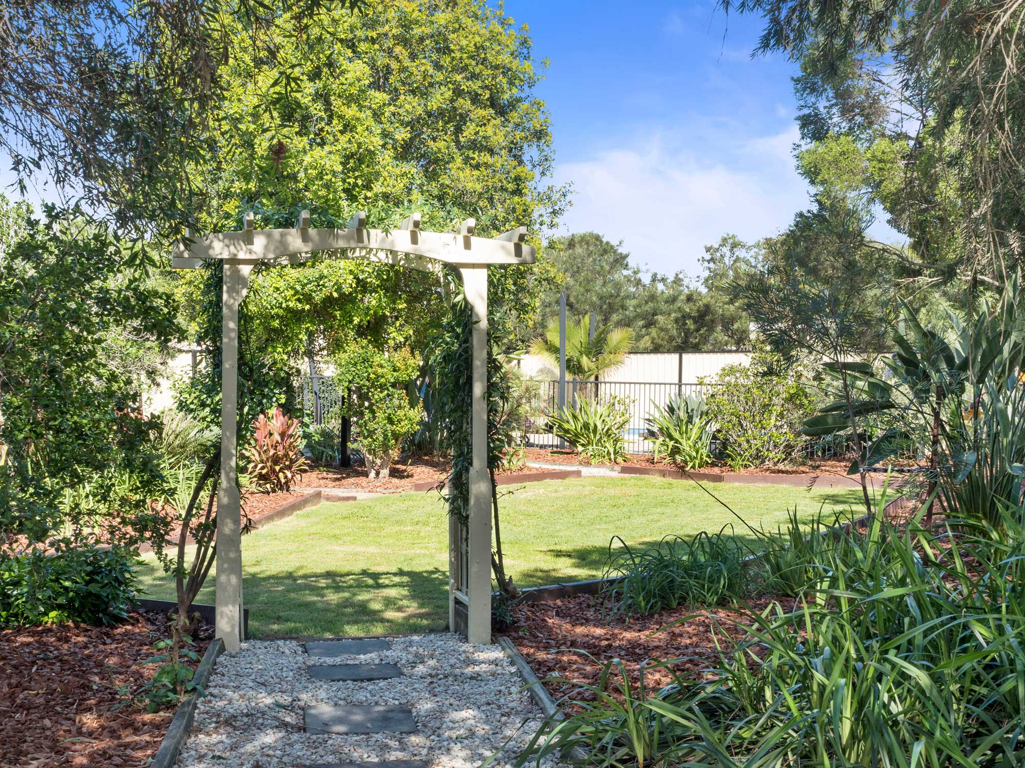 Private gardens at 33 Shergar Court Jimboomba