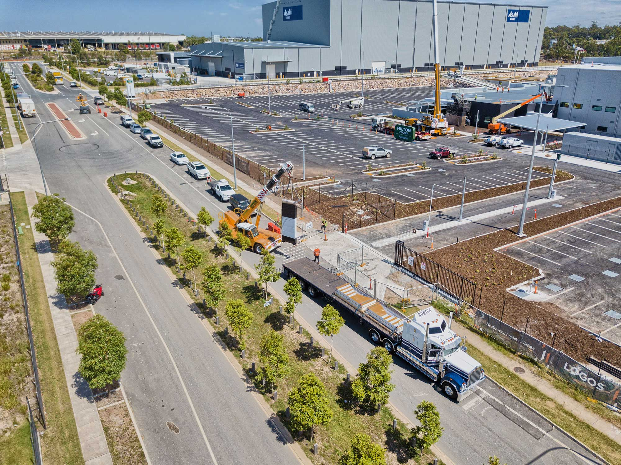 Drone photography of construction site at Heathwood Logistics Park - Brisbane