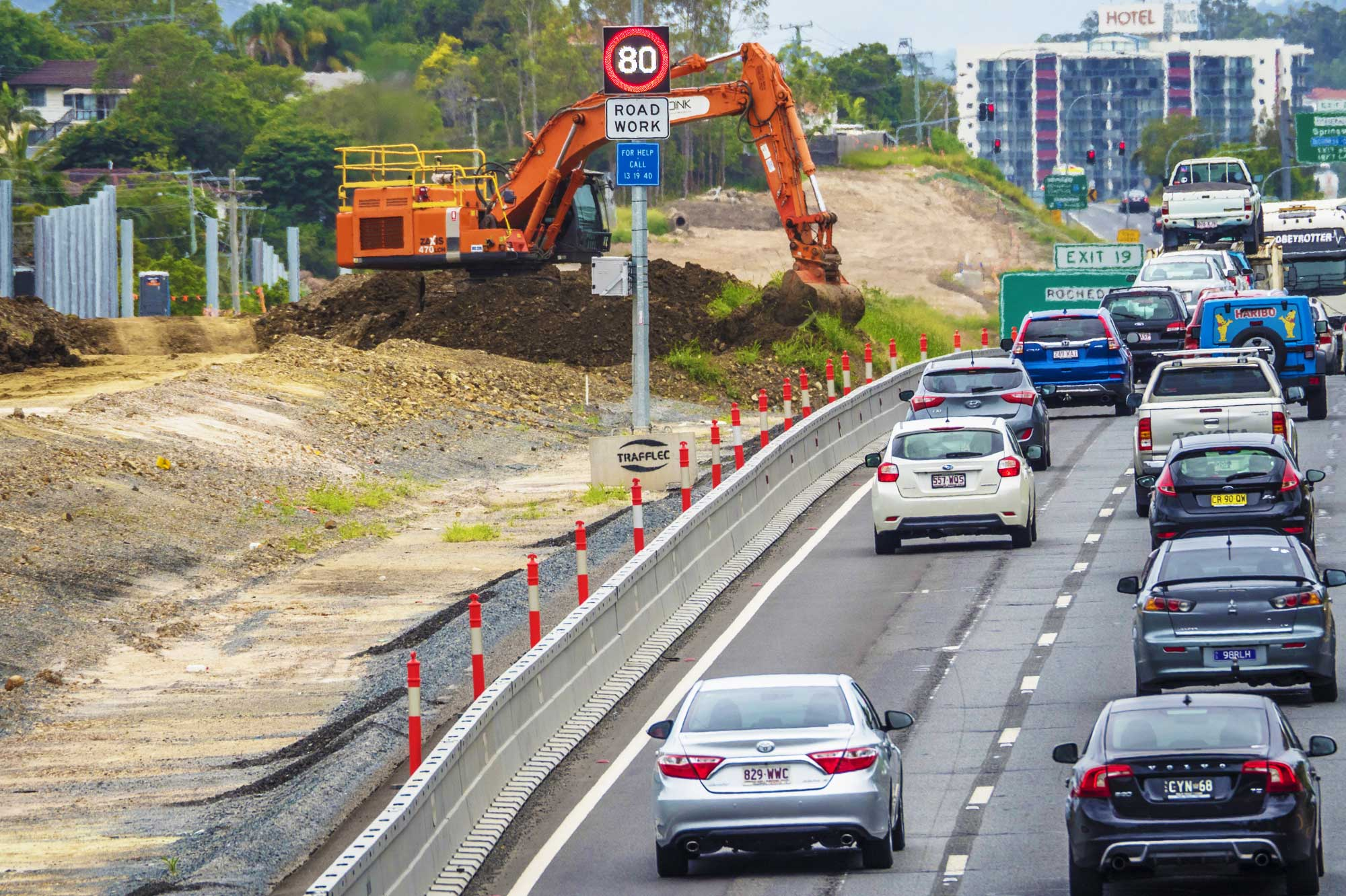 Construction photography Brisbane for HSRoads safety barrier