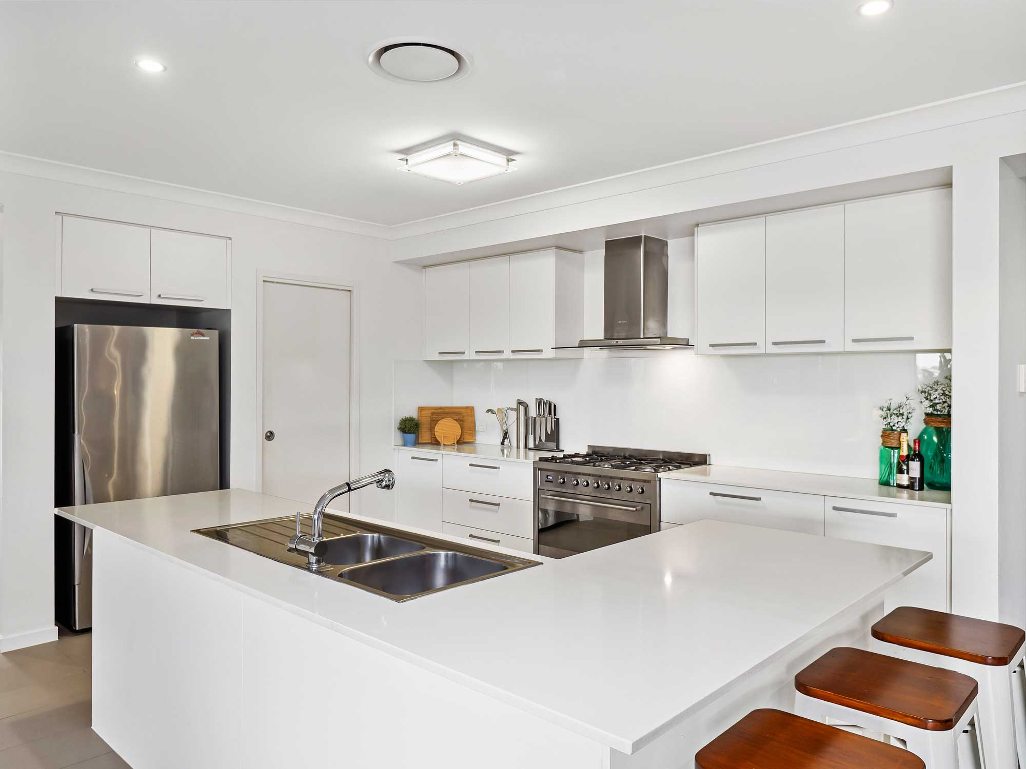 The kitchen - Real estate photography for a new home listing at Cashmere, Brisbane north side