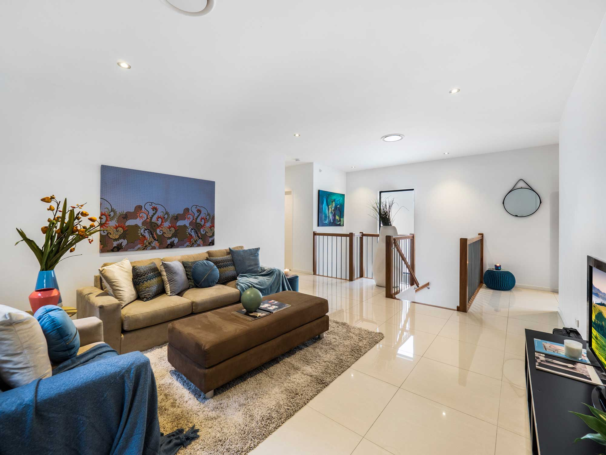 Family room - Real estate photography for a new home listing at Wavell Heights, Brisbane north side