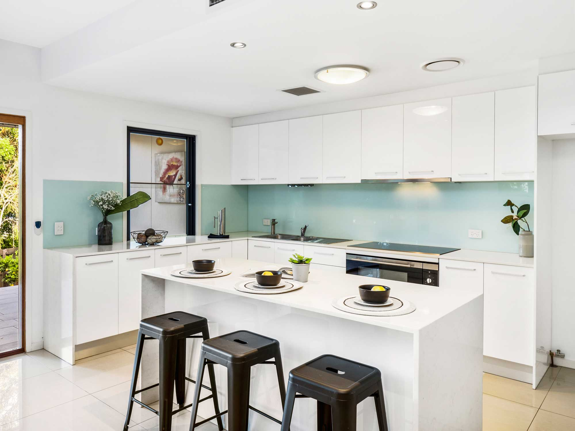 The kitchen - Real estate photography for a new home listing at Wavell Heights, Brisbane north side