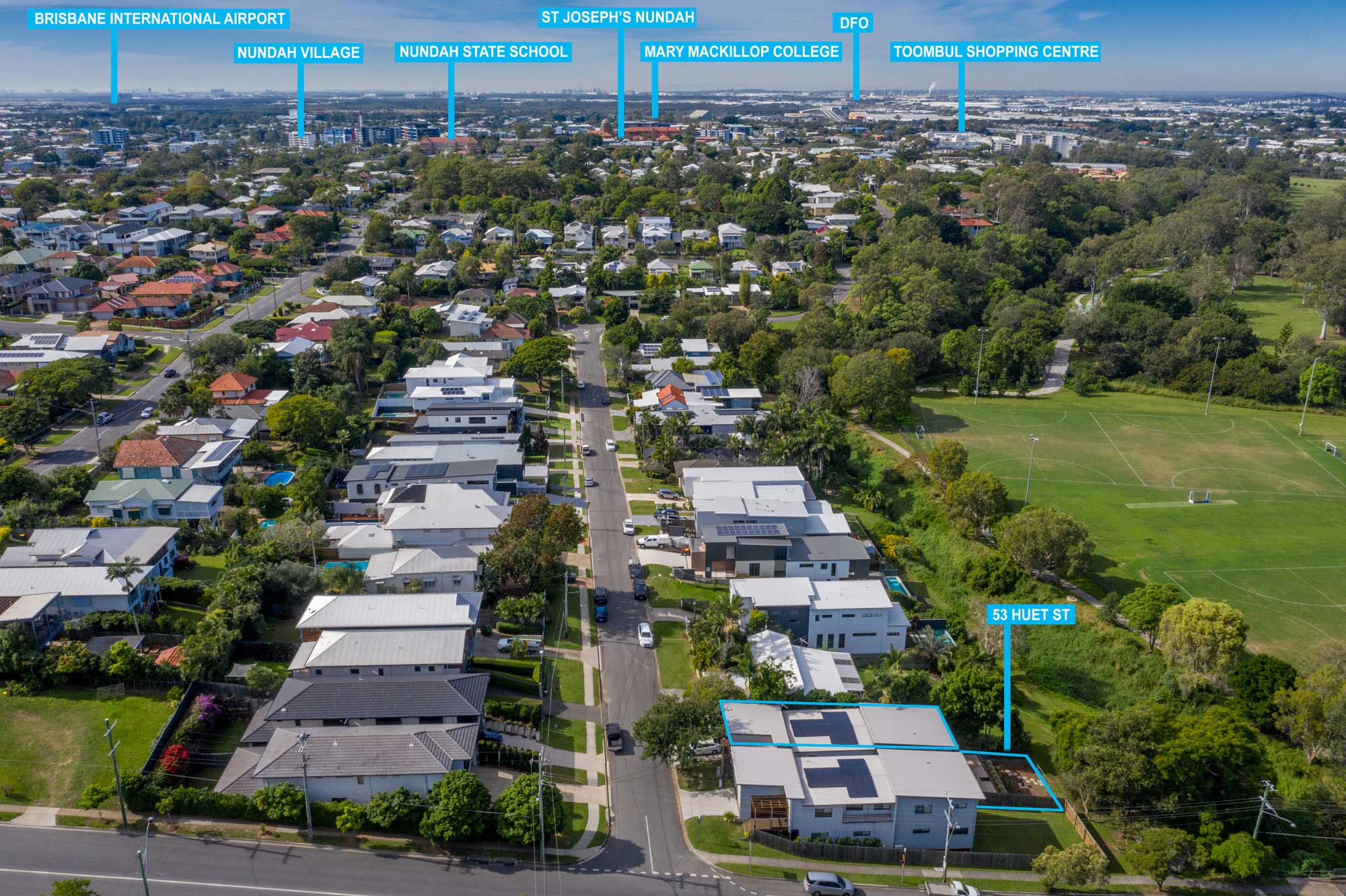 Drone photography - Real estate photography for a new home listing at Wavell Heights, Brisbane north side