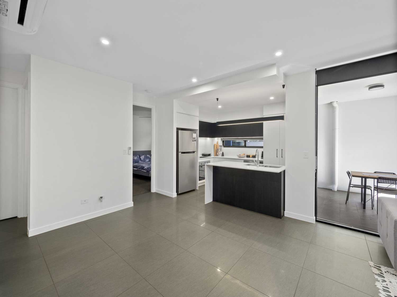 The dining area without virtual furniture - Apartment photography at Upper Mt Gravatt