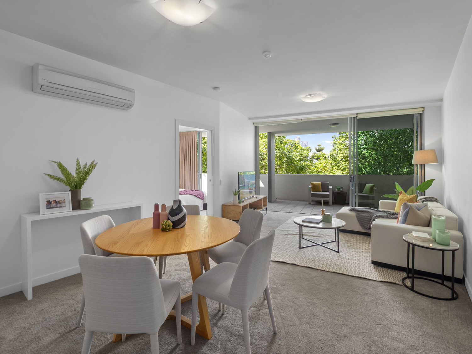 The lounge and dining area - Photographing an apartment for sale at 92 Quay St South Brisbane