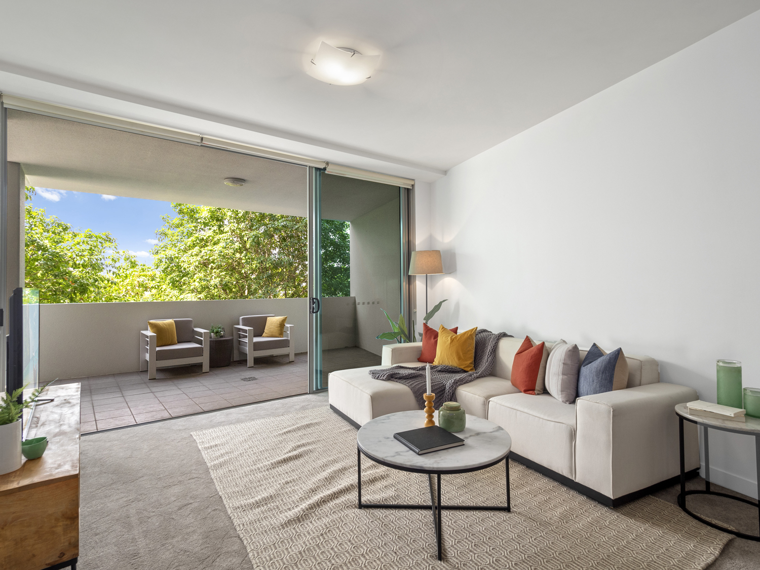 The lounge area - Photographing an apartment for sale at 92 Quay St South Brisbane