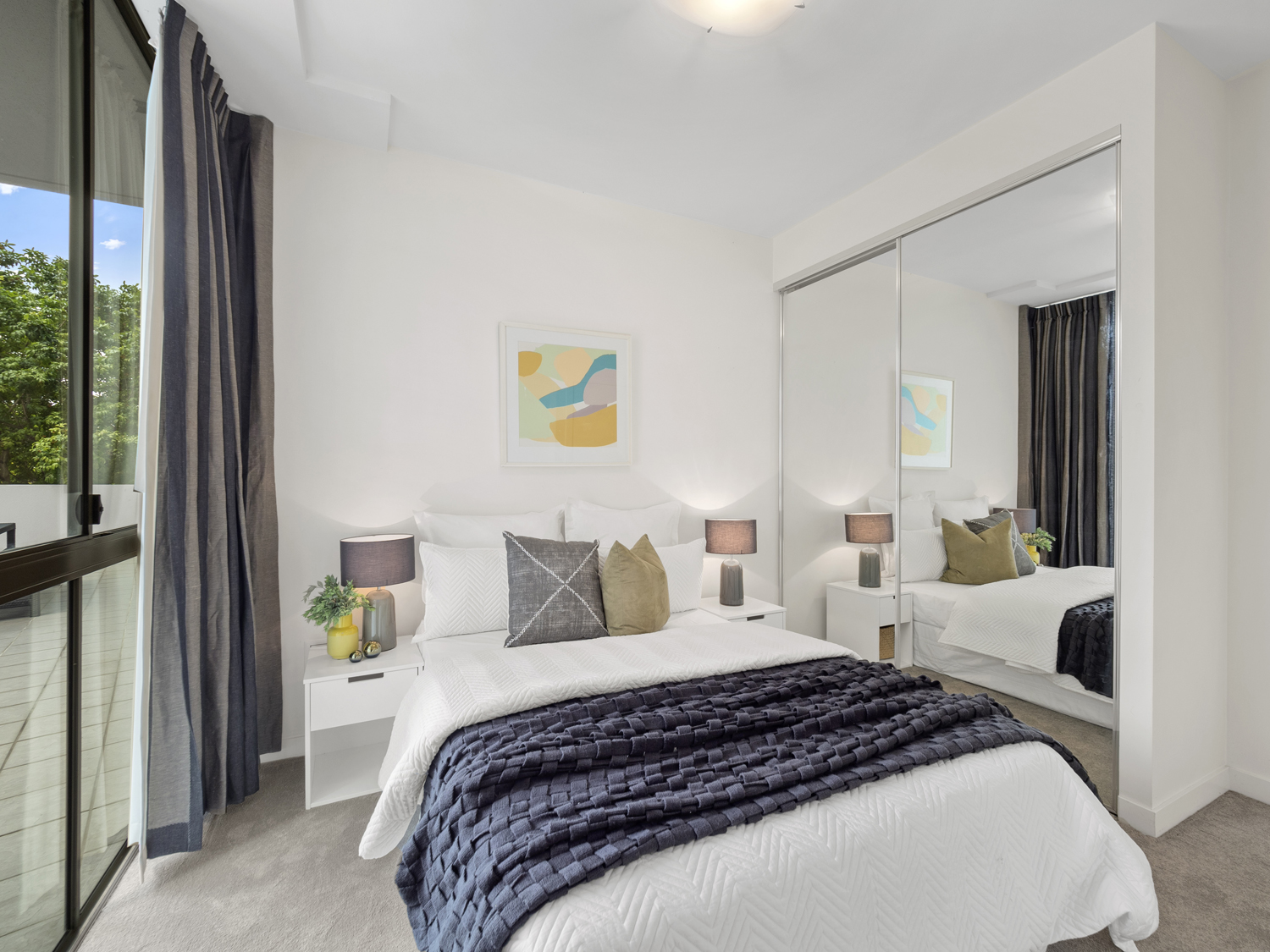 One of the bedrooms - Photographing an apartment for sale at 92 Quay St South Brisbane
