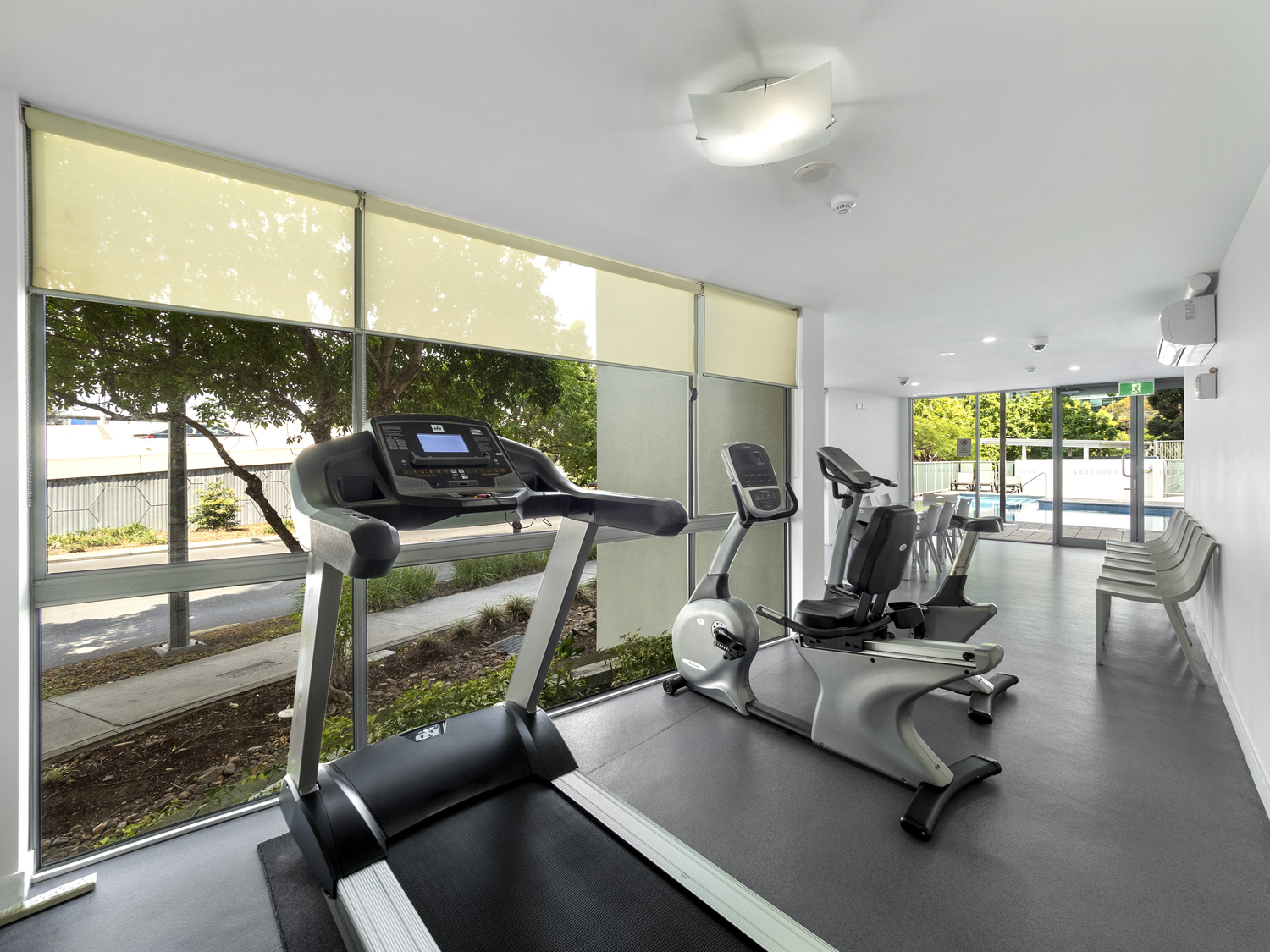 The gym - Photographing an apartment for sale at 92 Quay St South Brisbane