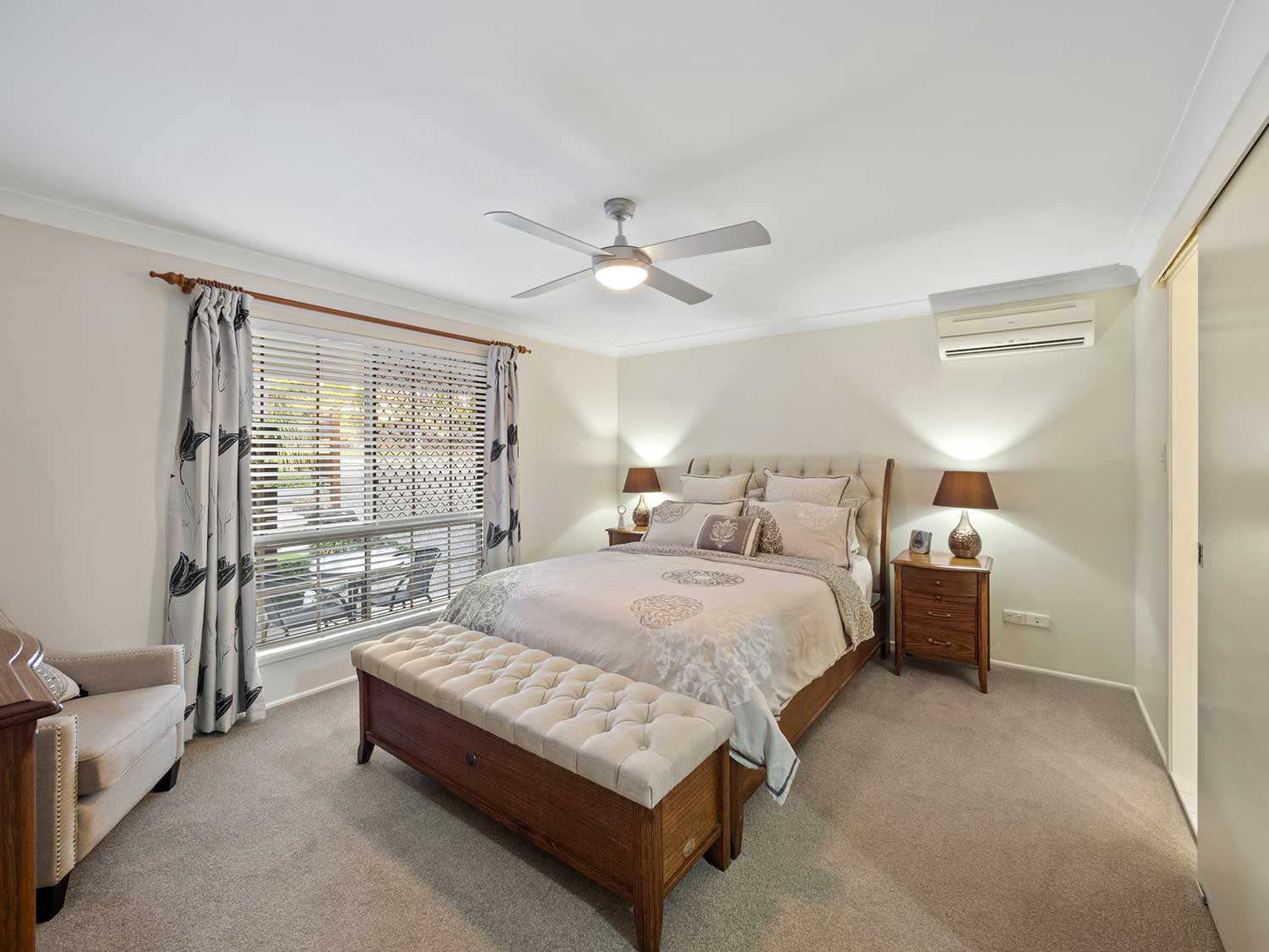 The master bedroom - photographing a home for sale at Kuraby