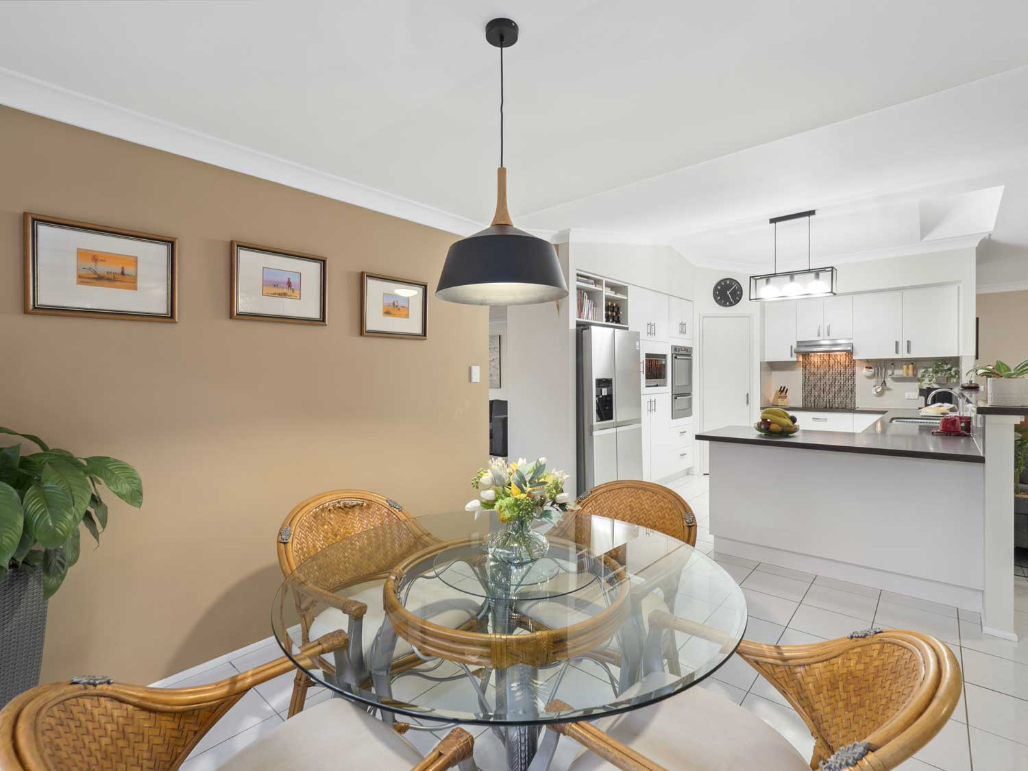 The dining and kitchen areas - photographing a home for sale at Kuraby