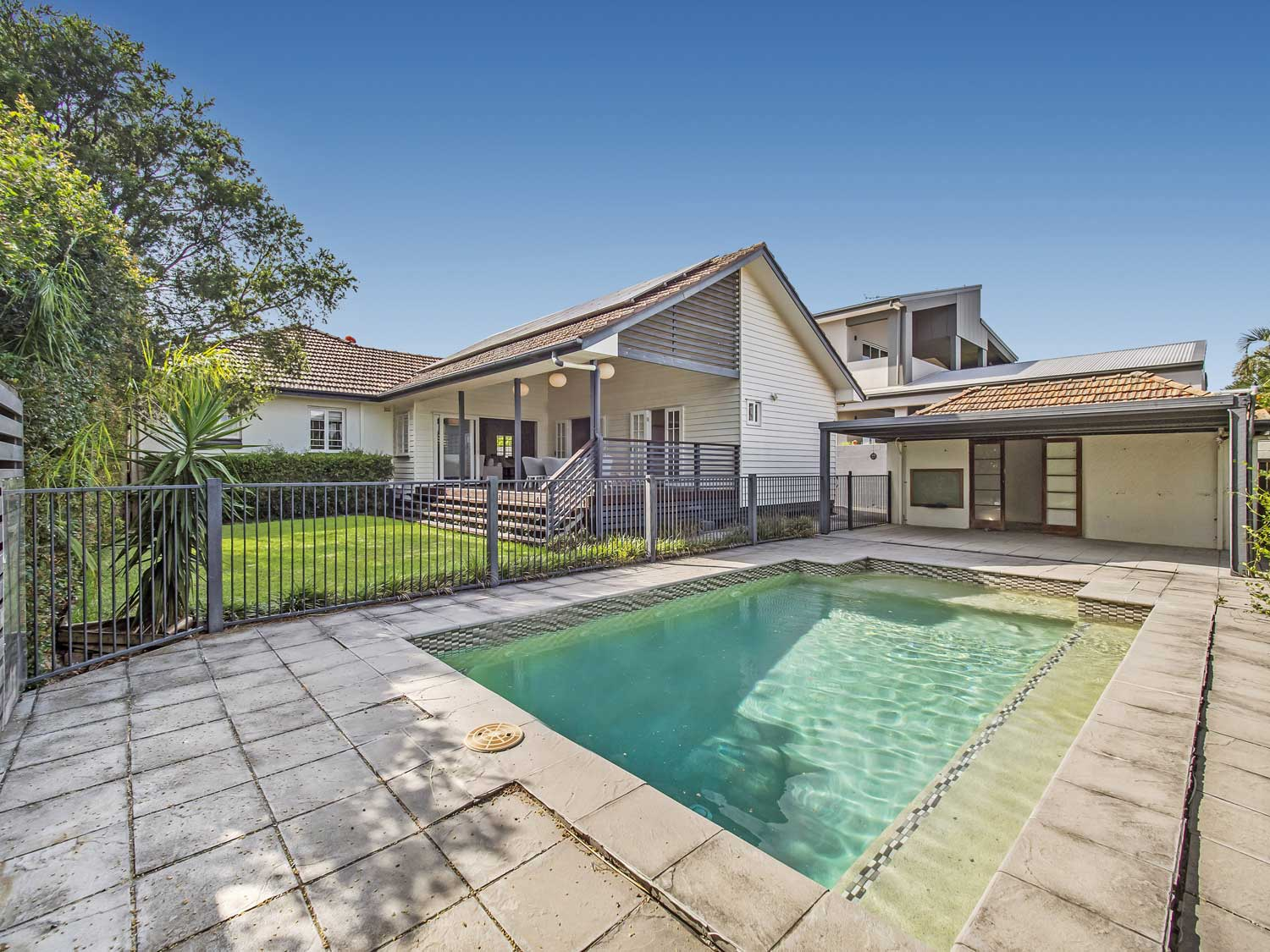 The pool area -  Photographing a new property listing at Wavell Heights Brisbane