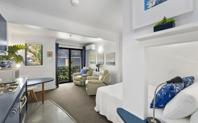 Studio apartment photography at Newfarm