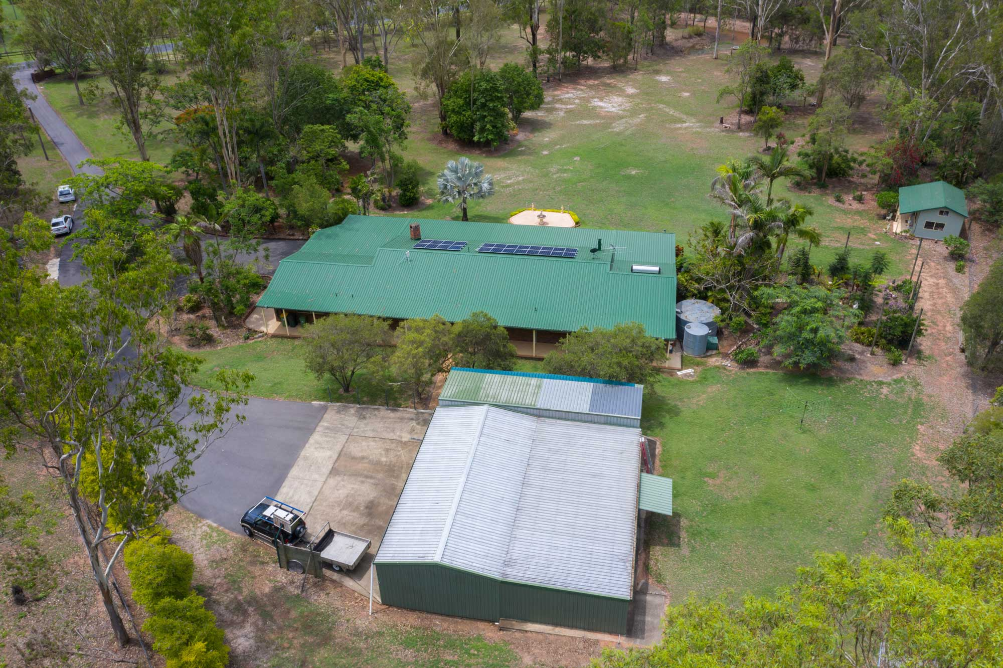 Drone photography of an acreage property for sale at Jimboomba