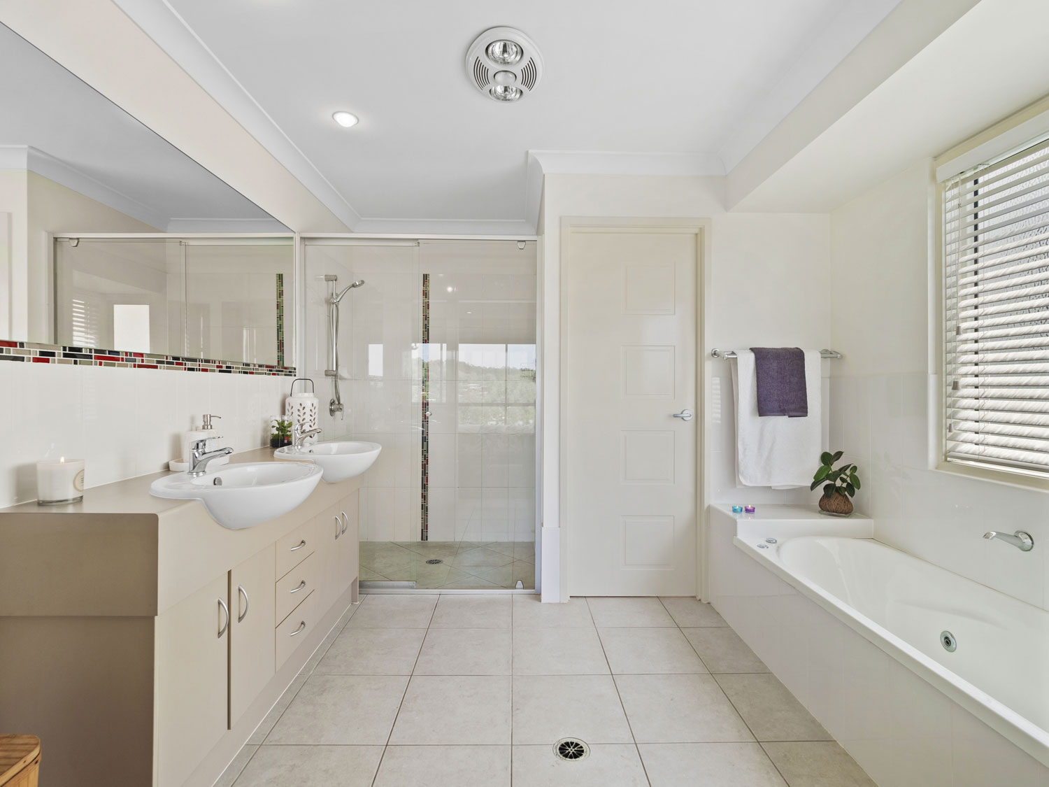 Capturing the ensuite of the home for sale at Mitchelton