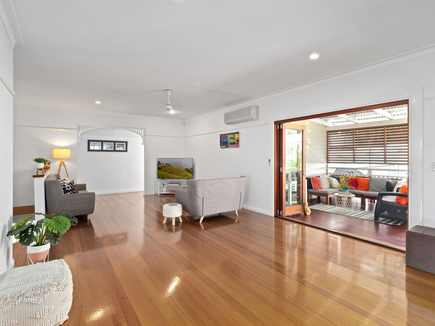 The main living area of a home for sale at Eaton's Hill