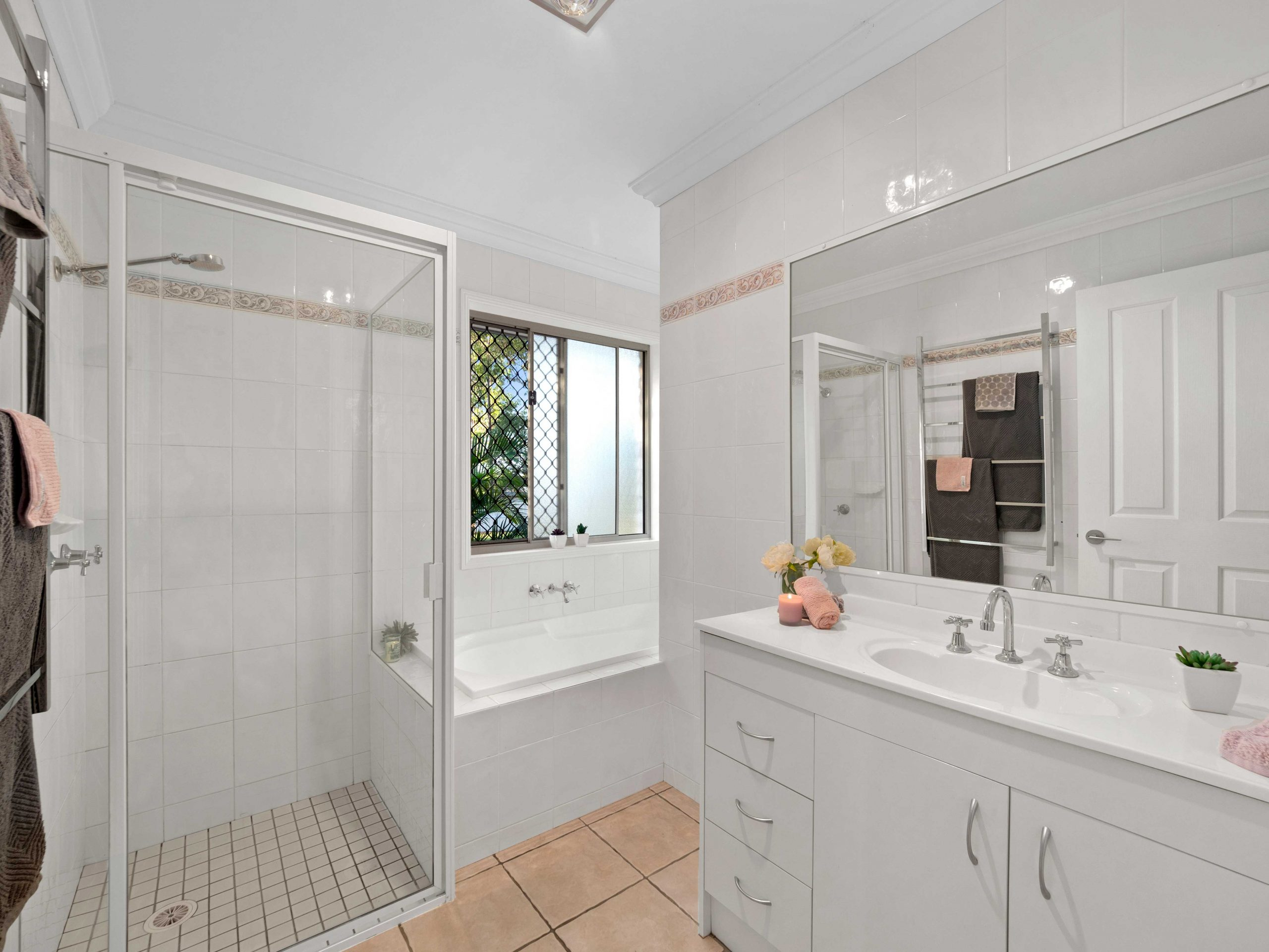 Capturing the bathroom of an acreage property for sale at Jimboomba