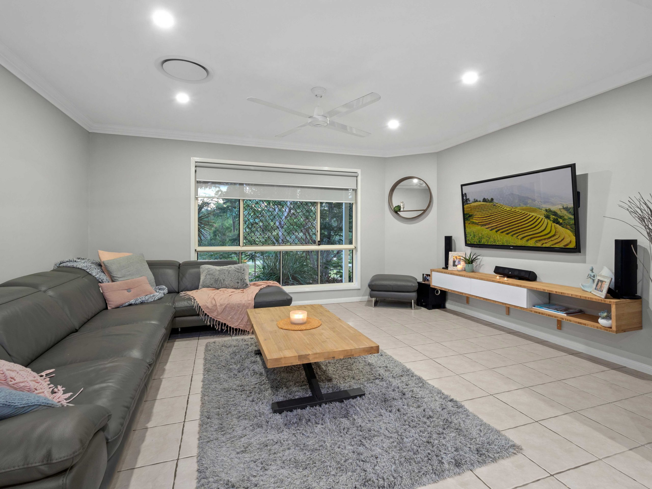 Capturing the lounge area of an acreage property for sale at Jimboomba