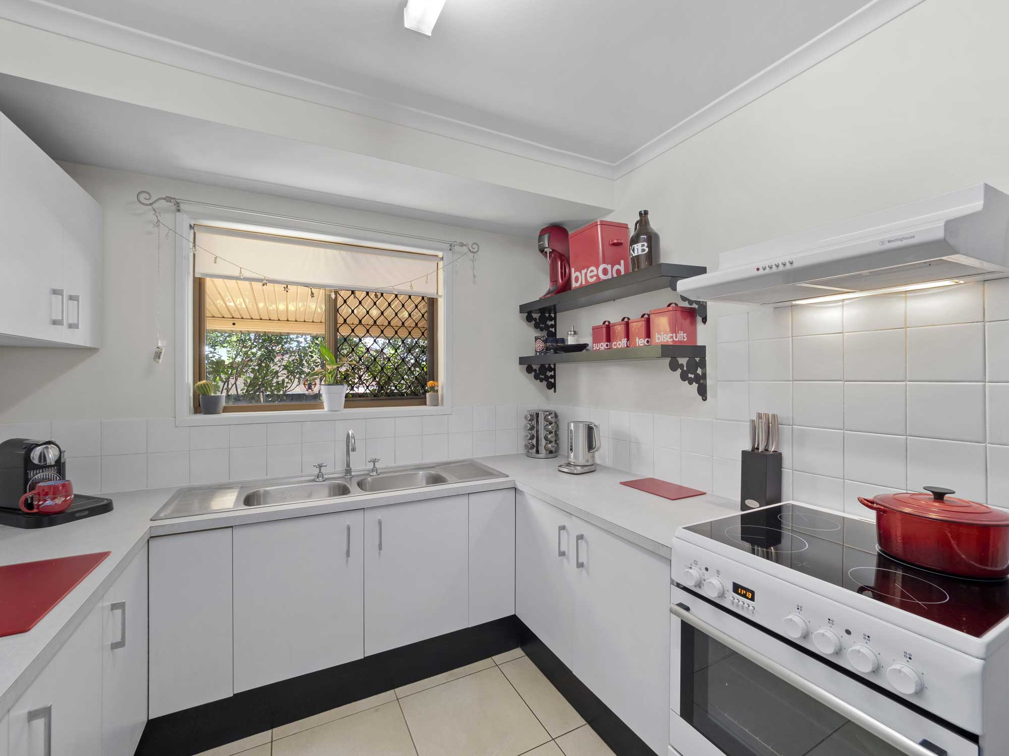 Capturing the open plan living of the home for sale at Mitchelton