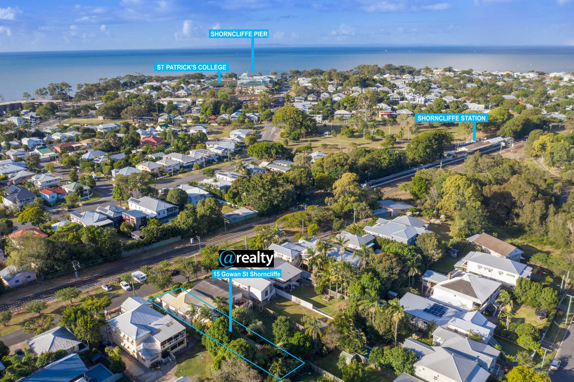 Drone photography location shots for 15 Gowen St Shorncliffe
