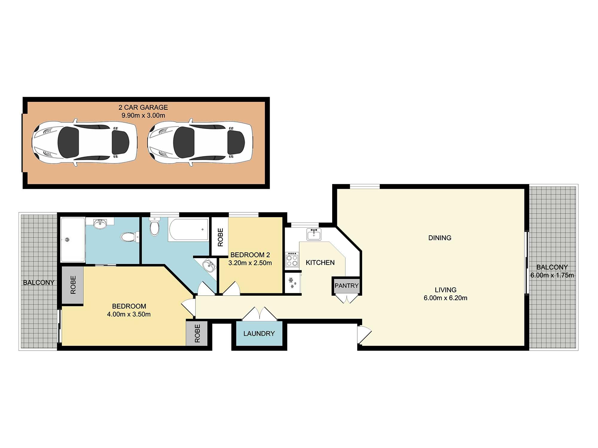 Apartment photography at 20 Weston St Coorparoo